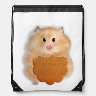 Hamster with biscuit mochilas