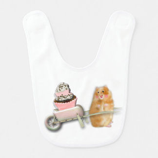 Hamster with cupcakes Bib by BabyLaia