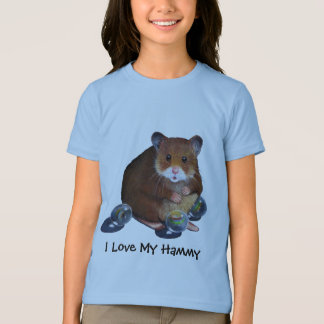 HAMSTER With Marbles, I Love My Hammy T-Shirt