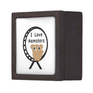 Hámsteres del amor caja de joyas de calidad