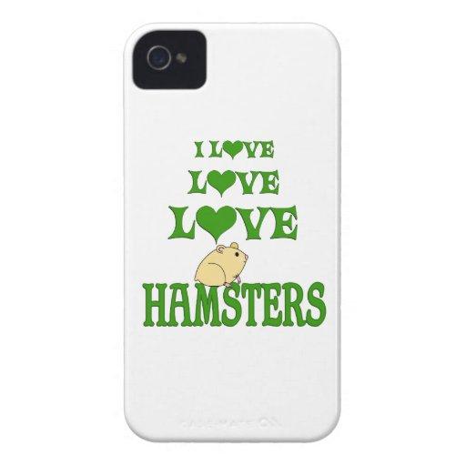 Hámsteres del amor del amor iPhone 4 Case-Mate cárcasas