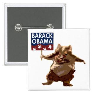 Hámsteres para el botón de Barack Obama Pin
