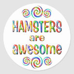HAMSTERS ARE AWESOME CLASSIC ROUND STICKER
