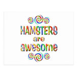HAMSTERS ARE AWESOME POSTCARD