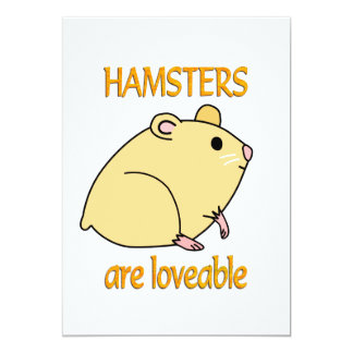 Hamsters are Loveable Card