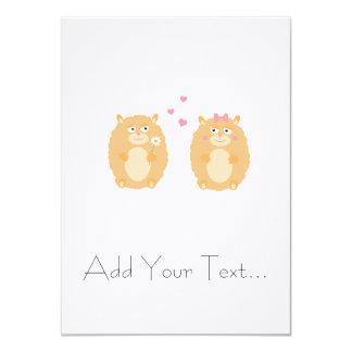 Hamsters in love card