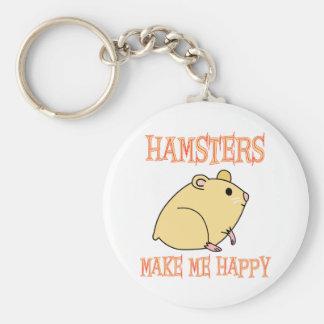 Hamsters Make Me Happy Key Chain
