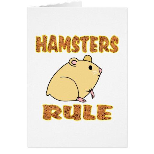 HAMSTERS RULE GREETING CARD