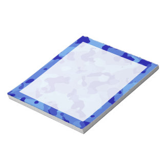 Han Blue Camo; Camouflage Note Pad