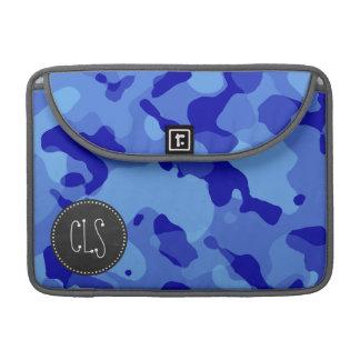 Han Blue Camo; Retro Chalkboard look Sleeve For MacBooks