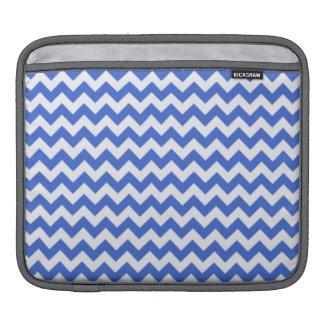 Han Blue Chevron Stripes Sleeves For iPads