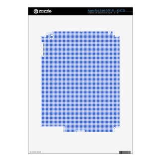 Han Blue Gingham Checkered iPad 3 Skin