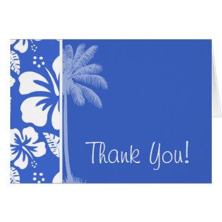 Han Blue Hawaiian Tropical Hibiscus; Palm Card