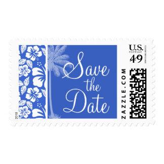 Han Blue Hawaiian Tropical Hibiscus; Palm Postage