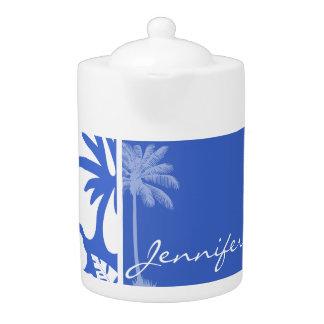 Han Blue Hawaiian Tropical Hibiscus; Palm