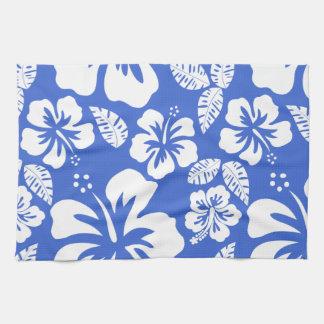 Han Blue Hawaiian Tropical Hibiscus Towel