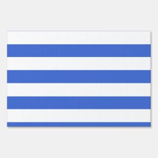 Han Blue Horizontal Stripes Lawn Sign