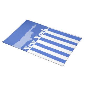 Han Blue Horizontal Stripes New York Place Mats
