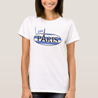 Han Blue Horizontal Stripes; Paris T-Shirt