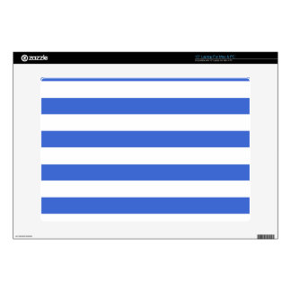 Han Blue Horizontal Stripes Decals For Laptops