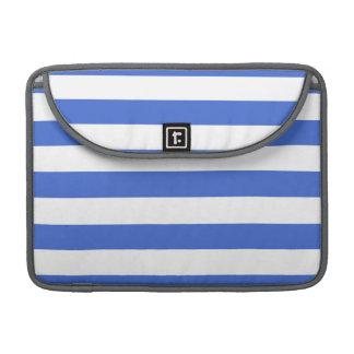 Han Blue Horizontal Stripes Sleeve For MacBook Pro
