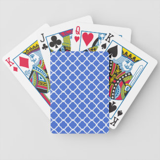 Han Blue Moroccan Quatrefoil Bicycle Playing Cards