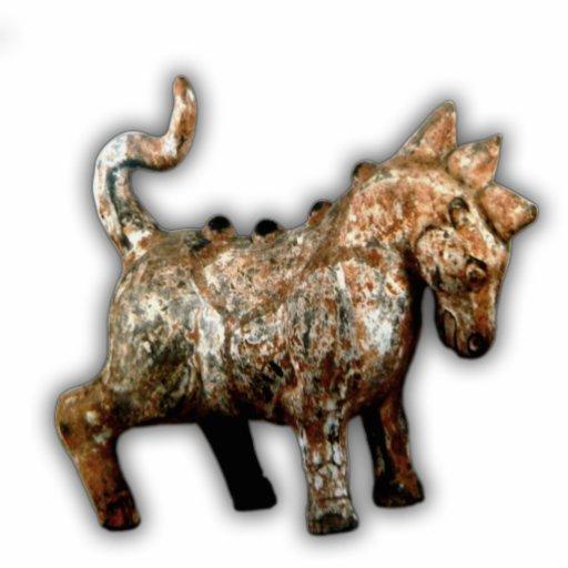 Han Dynasty artifact terracotta horse Standing Photo Sculpture