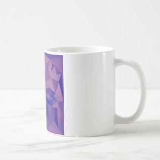 Han Purple Abstract Low Polygon Background Coffee Mug