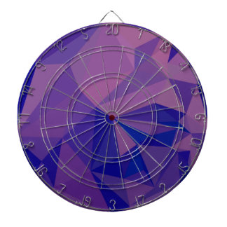Han Purple Abstract Low Polygon Background Dart Board