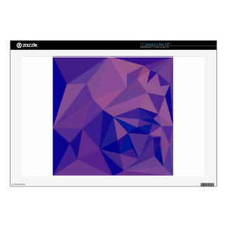 Han Purple Abstract Low Polygon Background Laptop Skins