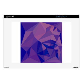 """Han Purple Abstract Low Polygon Background Skin For 15"""" Laptop"""