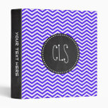 Han Purple Chevron Stripes; Chalkboard Binder