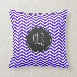Han Purple Chevron Stripes; Chalkboard Pillows
