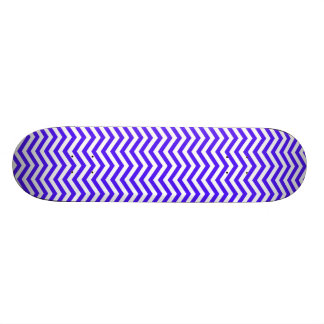 Han Purple Chevron Stripes Skateboard Deck