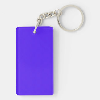 Han Purple Classic Colored Rectangle Acrylic Keychain