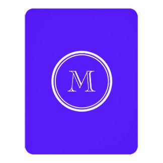 "Han Purple High End Colored Monogram 4.25"" X 5.5"" Invitation Card"