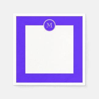 Han Purple High End Colored Monogram Paper Napkin