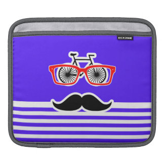 Han Purple Horizontal Stripes; Hipster Sleeves For iPads