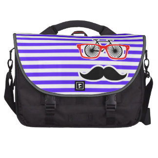 Han Purple Horizontal Stripes; Hipster Commuter Bags
