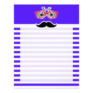 Han Purple Horizontal Stripes; Hipster Letterhead Template
