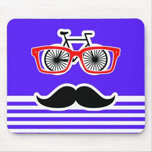 Han Purple Horizontal Stripes; Hipster Mousepad
