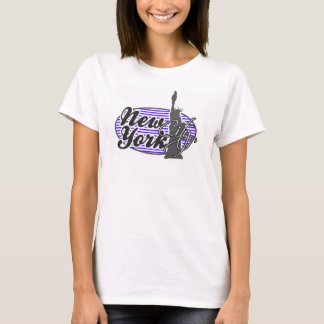 Han Purple Horizontal Stripes; New York City T-Shirt
