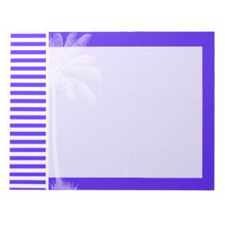 Han Purple Horizontal Stripes; Palm tree Memo Notepad