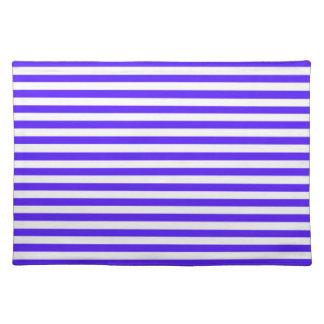 Han Purple Horizontal Stripes Striped Placemats
