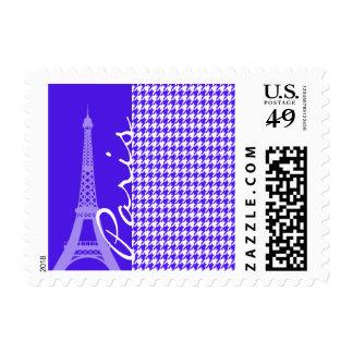 Han Purple Houndstooth; Paris Stamp