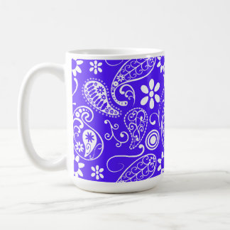 Han Purple Paisley; Floral Classic White Coffee Mug