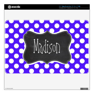 Han Purple Polka Dots; Chalkboard Decal For MacBook Air