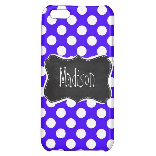 Han Purple Polka Dots; Chalkboard iPhone 5C Covers