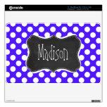Han Purple Polka Dots; Chalkboard Skins For MacBook Air