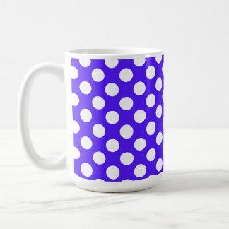 Han Purple Polka Dots Classic White Coffee Mug